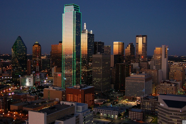 Skyline view of Dallas Texas