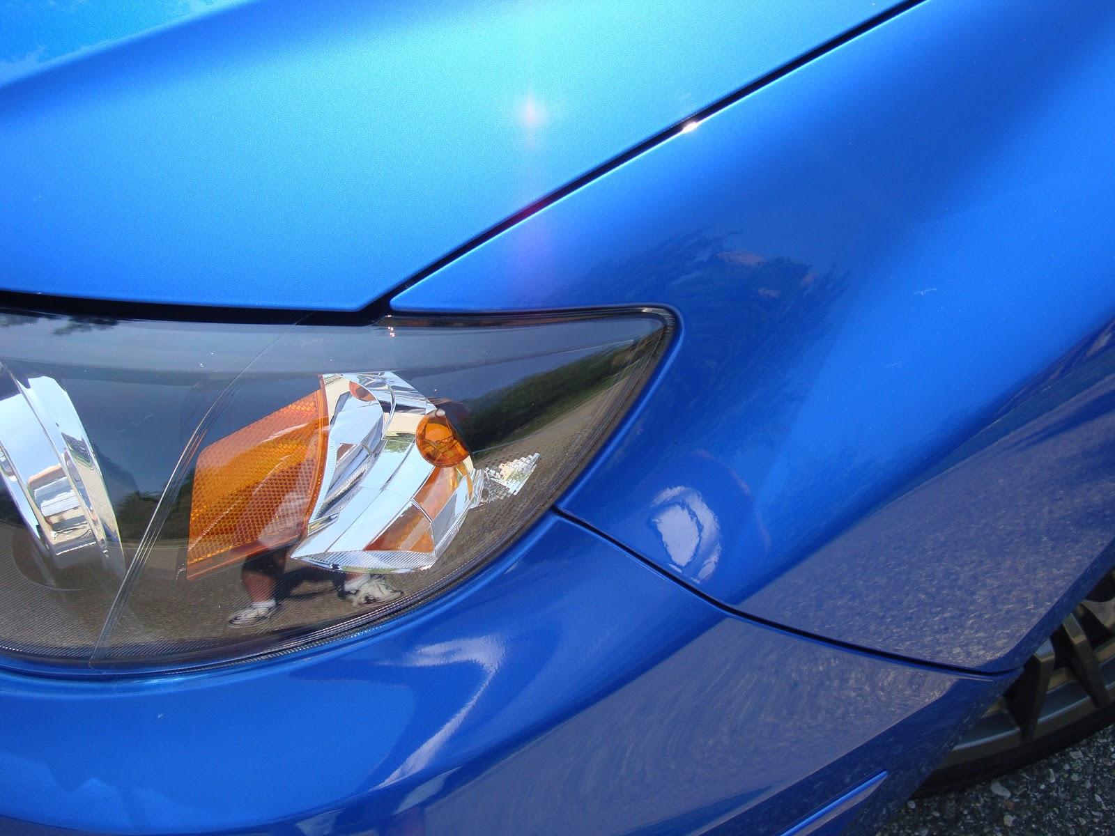 Nicely waxed car