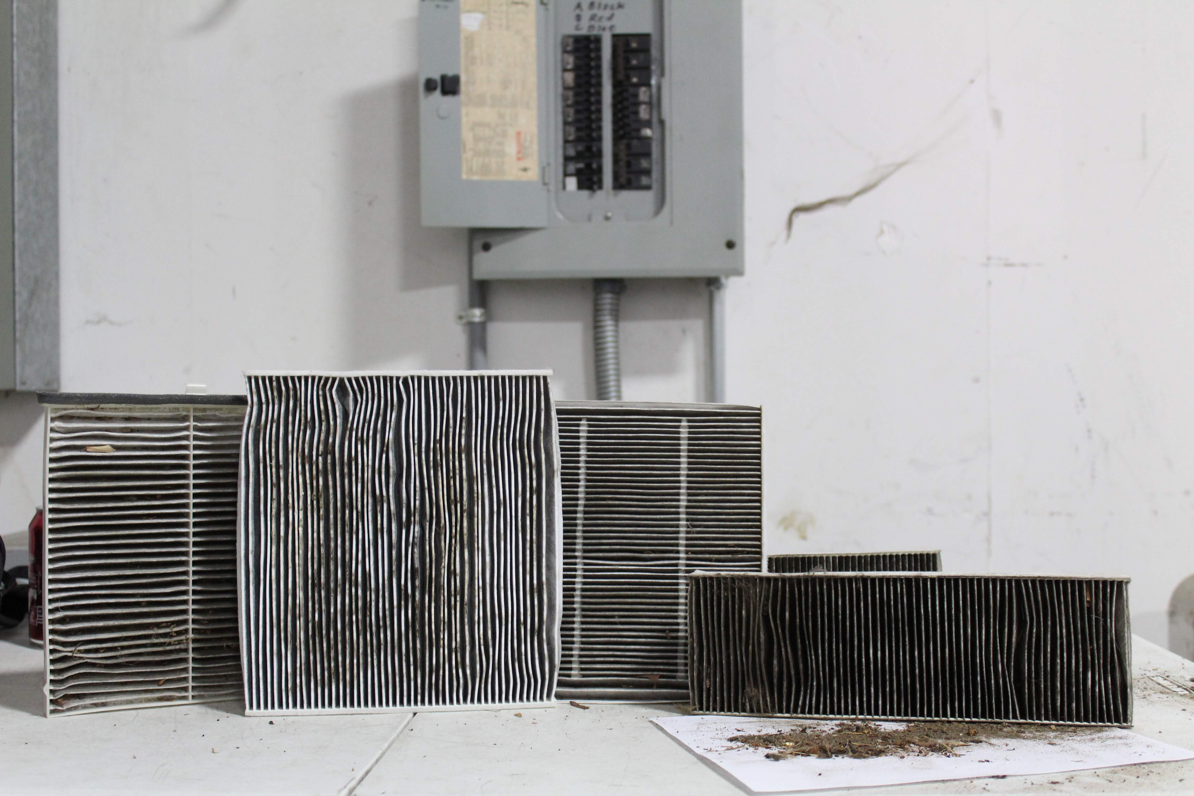 dirty cabin air filters