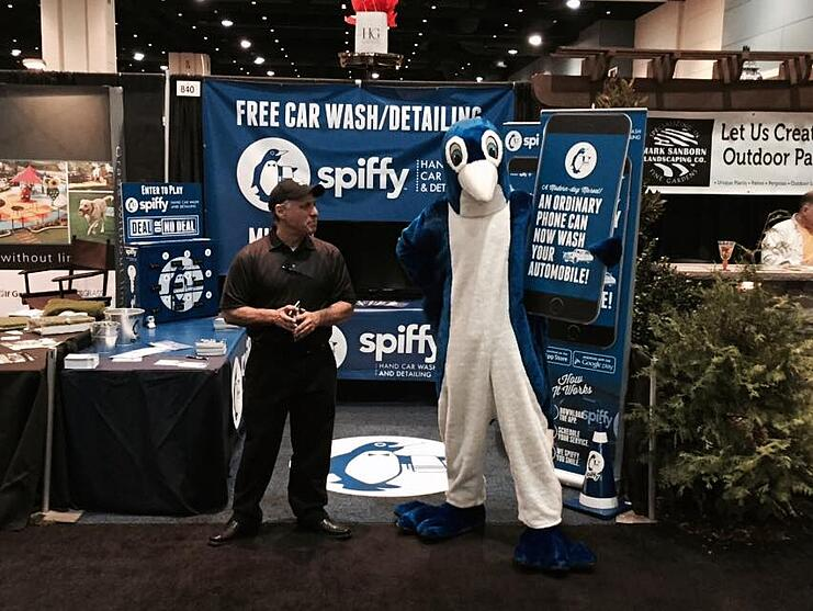 spiffy at downtown raleigh home show feb 2015
