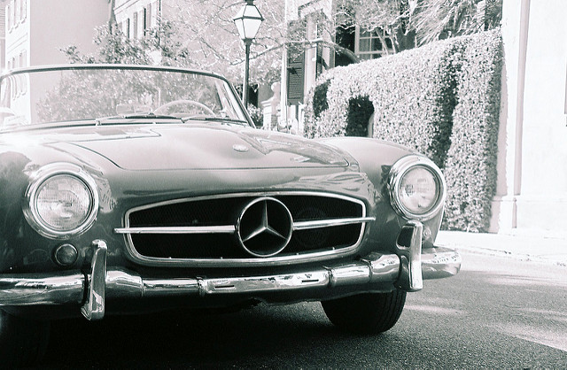 A Mercedes-Benz showing the evolution of the luxury car