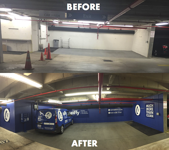Before and After Renovations On Campus Amenity