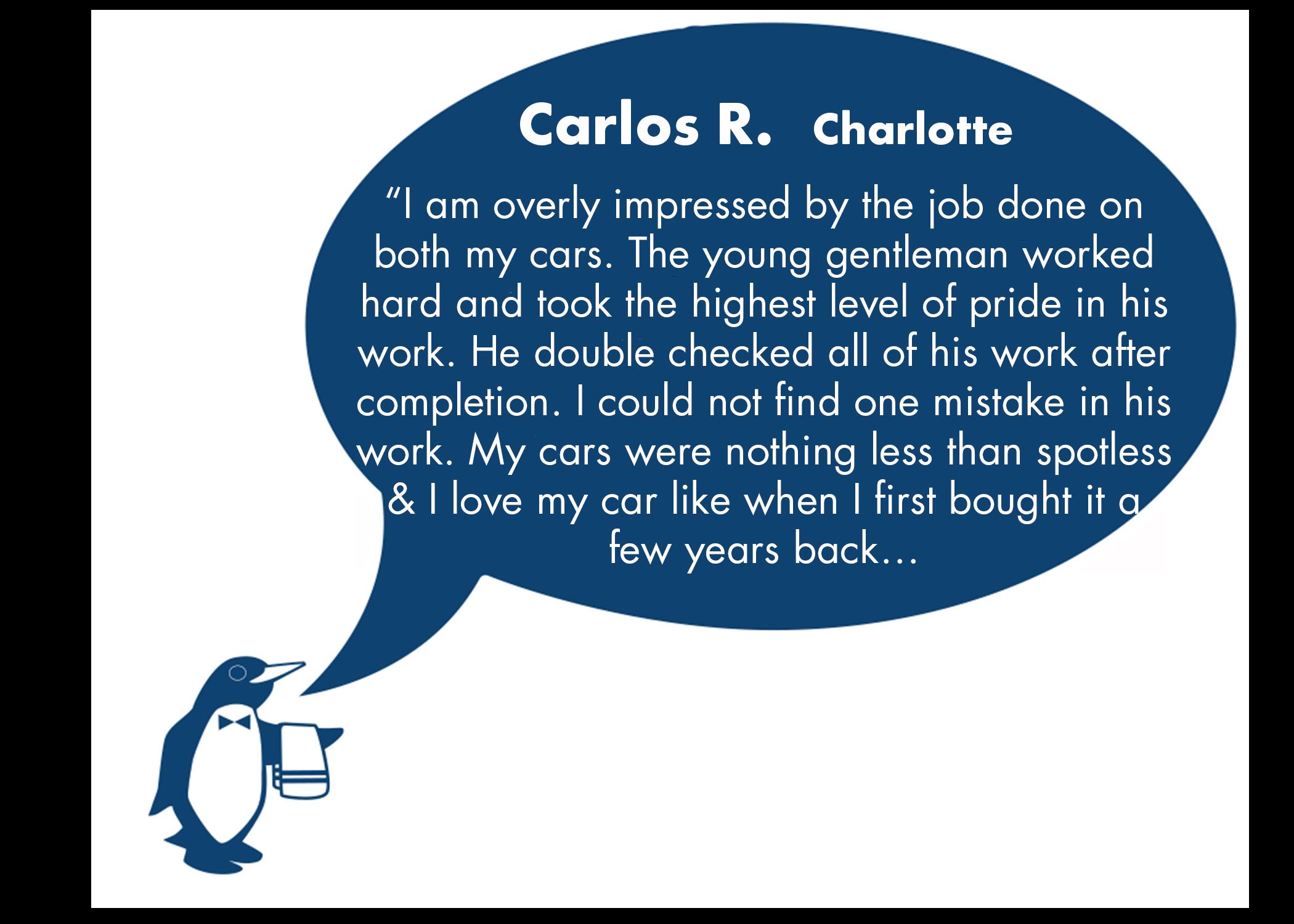 Carlos Review June Charlotte, NC