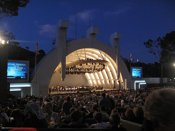 Hollywood Bowl LA at night concert