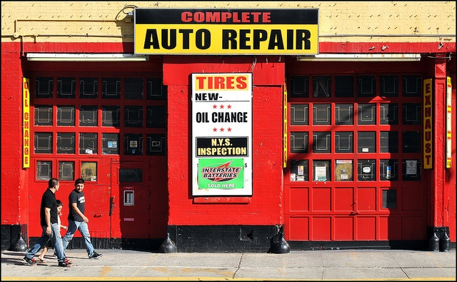 An auto repair shop which is slowly becoming more women customer oriented