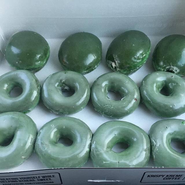 Green glazed donut from Krispy Kreme