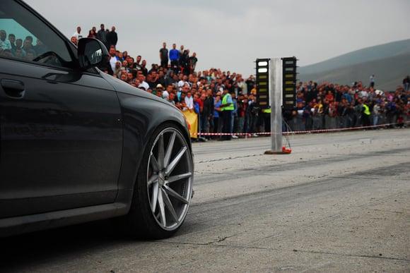 car racing photo on track
